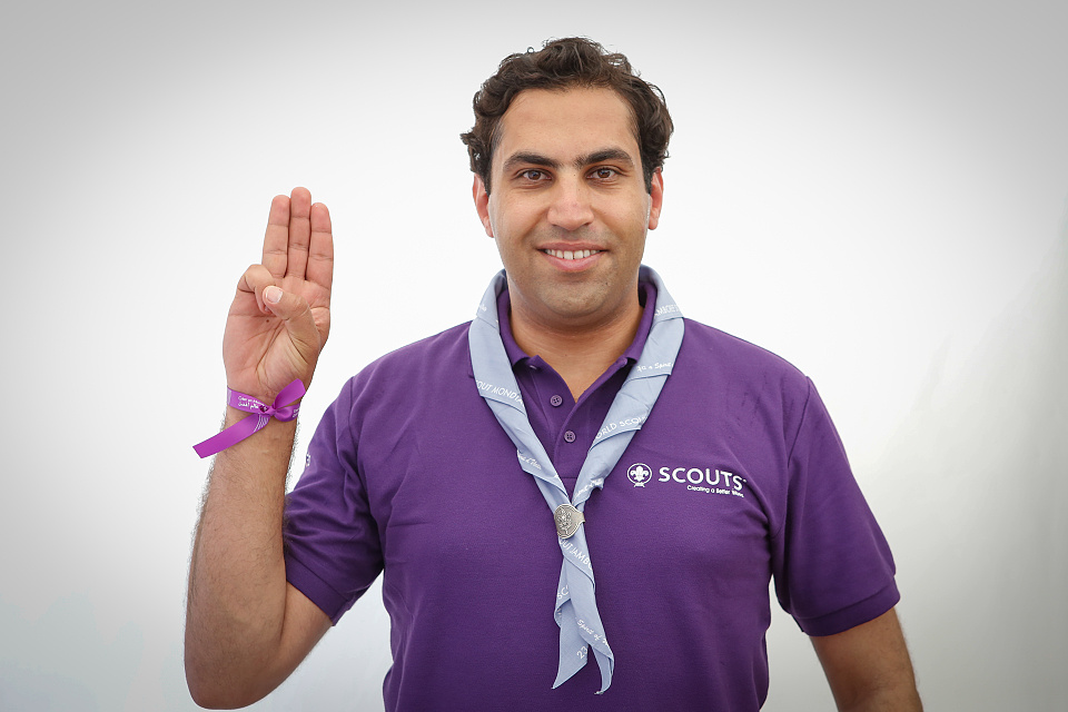 Mr. Ahmad Alhendawi, United Nations Secretary-General's Envoy on Youth, visit the 23rd World Scout Jamboree, Japan 2015